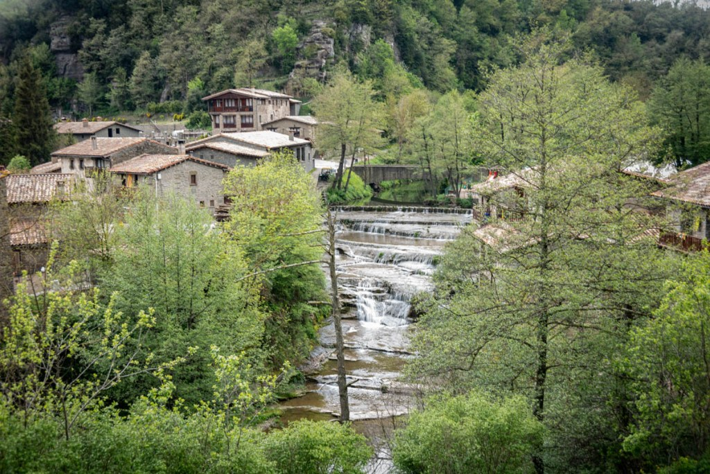 Riera de Rupit is a small river that runs below the town of Rupit