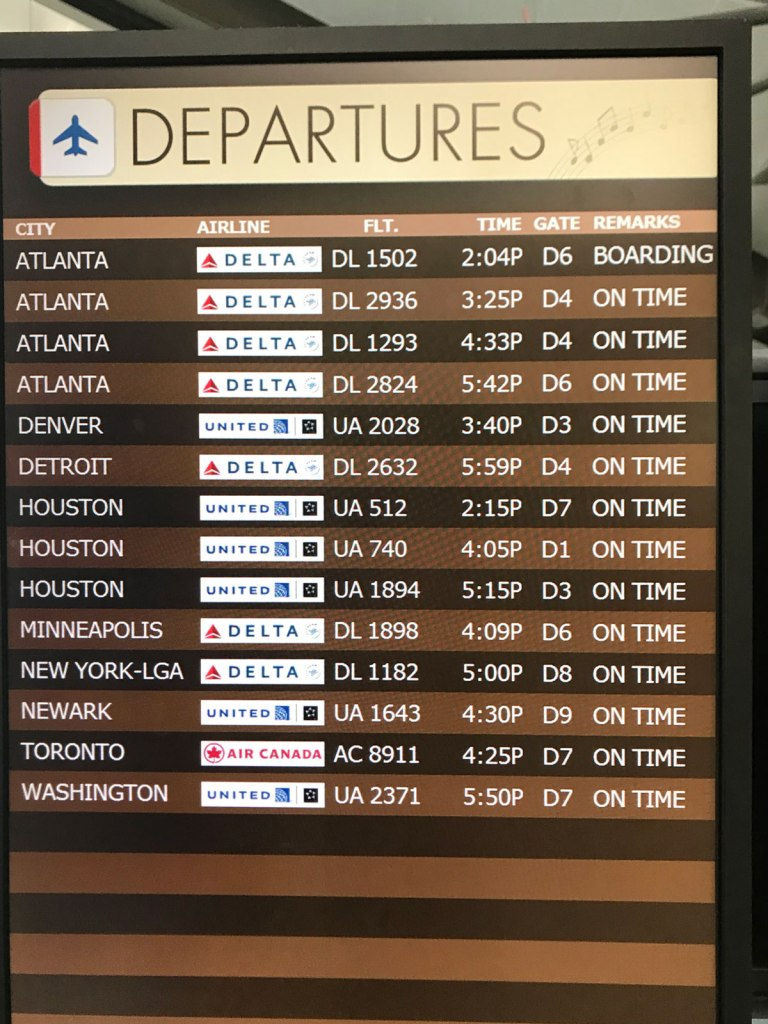 The airport closes early before Hurricane Barry and we're lucky to get the last flight out.
