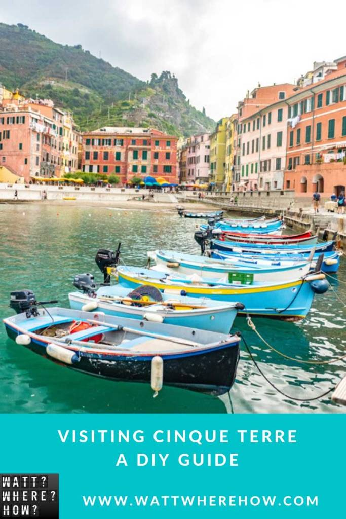 A DIY guide for a visiting Cinque Terre, Italy's stunning five sleepy fishing villages that hug the coastline offering amazing trekking and dining.