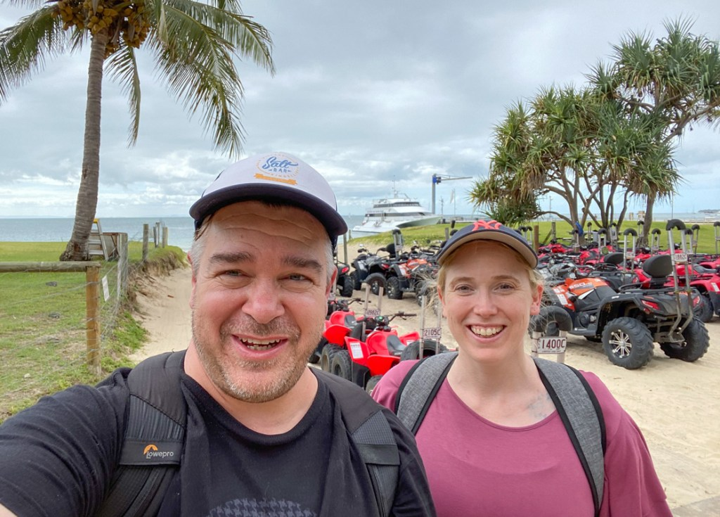 After many Tangalooma day trips when we lived in Brisbane, we finally got to ride quad bikes