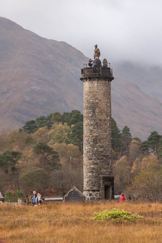The Glenfinnan Monument is part of a Scotland Road Trip to the north-west