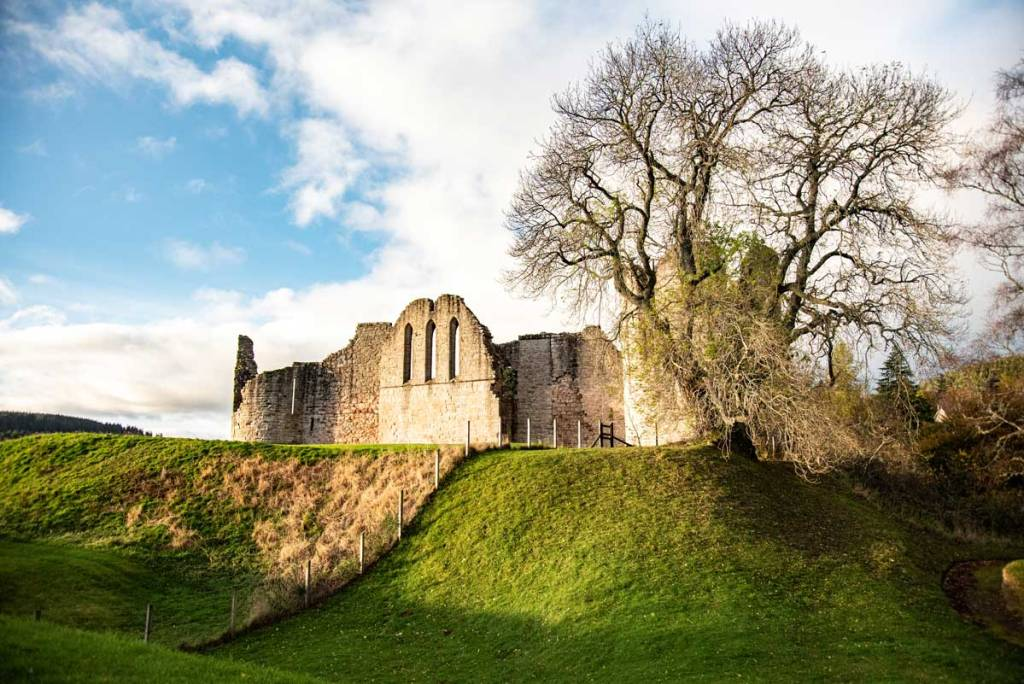 Kildrummy Castle is our destination for this night on our Scotland Road Trip