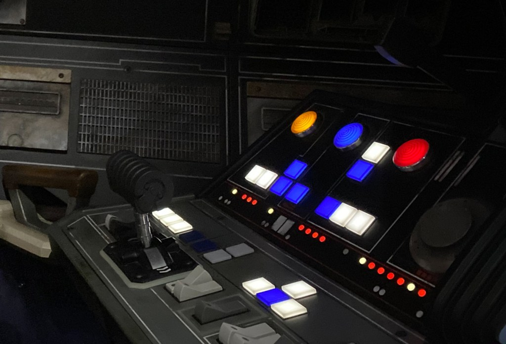 Star Wars Smugglers Run at Disneyworld perfectly replicates the 70s-era control surfaces