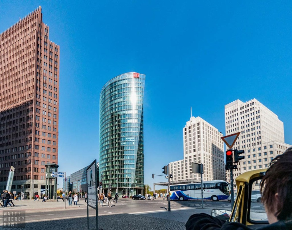 Our Trabi Safari takes us past the famous Potsdamer Platz