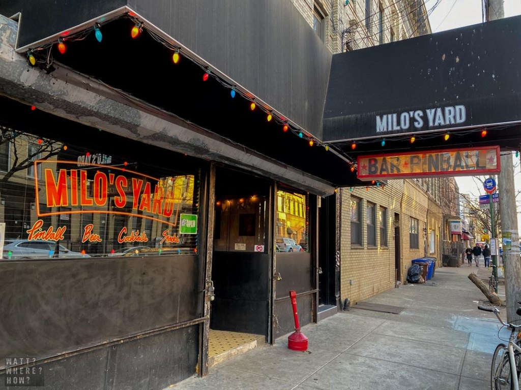 Milo's Yard is a low key bar on Seneca with its own hidden back yard.