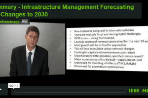 Conclusion of Infrastructure Management Forecasting the Changes to 2030