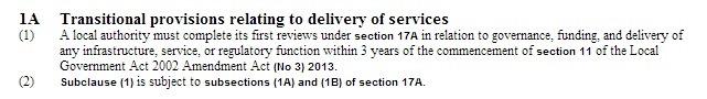 Local Government Act 2002 Amendment Bill  No 3  New Schedule 1AA