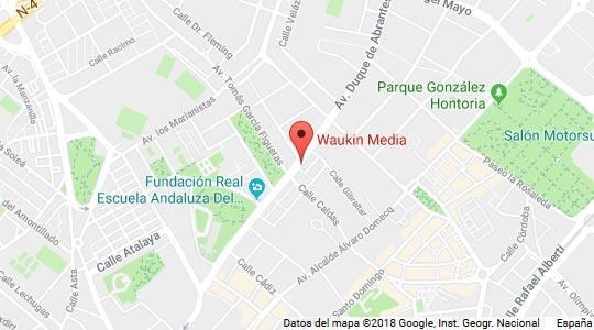Mapa Localización de Waukin Media
