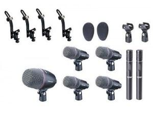 Набор микрофонов INVOTONE DMS-7 - Аренда музыкального оборудования, Прокат звука