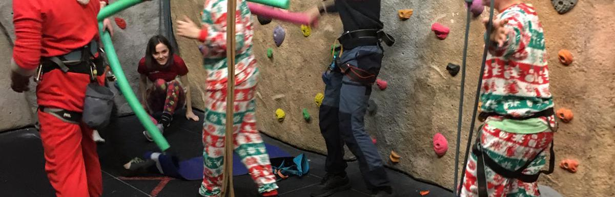 Christmassy climbing session