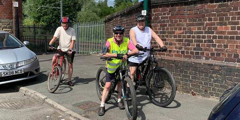16+ miles for our over 50's bike group
