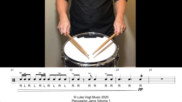 Percussion Jams Video Example