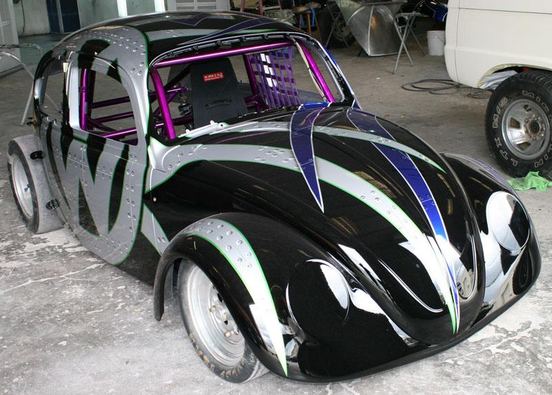 Silver Shades Paint Car
