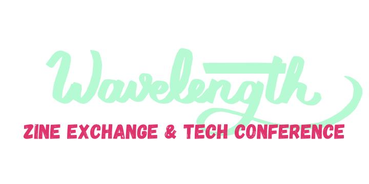 Green and pink Wavelength logo