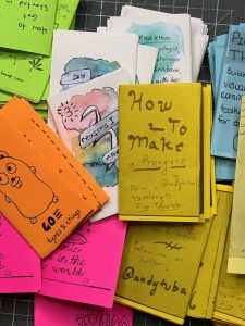 Photo of a bunch of zines