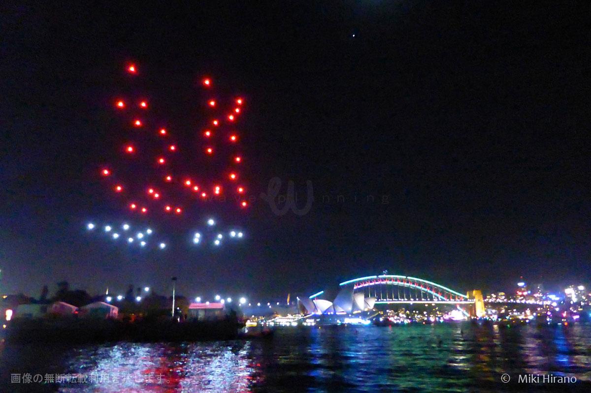 ドローン100機がビビッド・シドニーの夜空を彩る