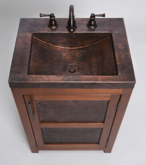 Thompson Traders Vanities Vts Petit Rustic Bathroom Vanity Copper Sink Includes Drain Wave Plumbing Supply