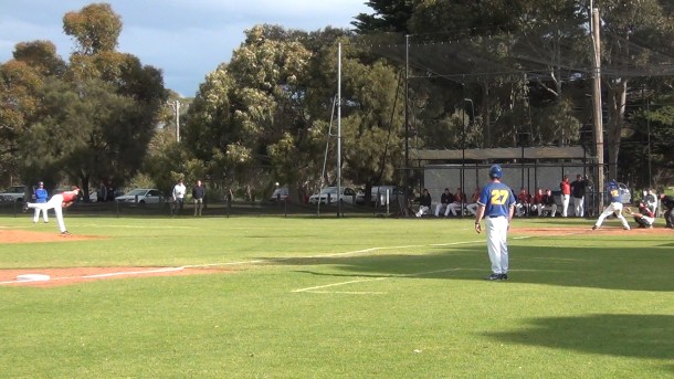 Jarrod Turner Pitching Against Sandringham