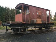 The 20t brake van with the new woodword fitted by Malcolm. It is also being repainted as time allows.