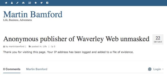 Martin Bamford blog post 22 Oct 2015