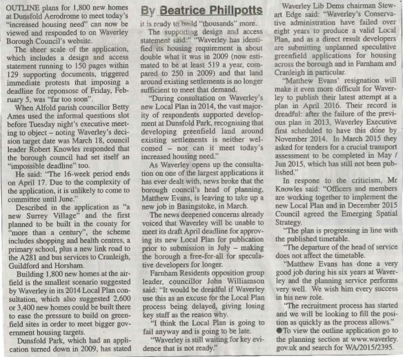 16.01.07 - Fears housing blueprint could be delayed by officer's resignation copy