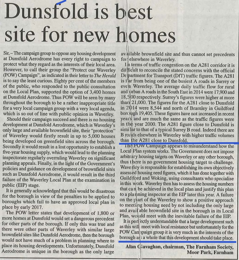 16.02.04 - Dunsfold is best site for new homes.jpg