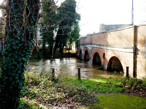 Godalming - River Wey under Bridge Street