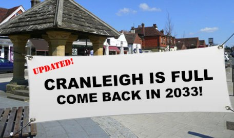 Cranleigh is Full Come back in 2033