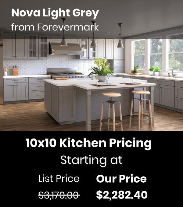 Forevermark Nova Light Grey  Waverly Cabinets