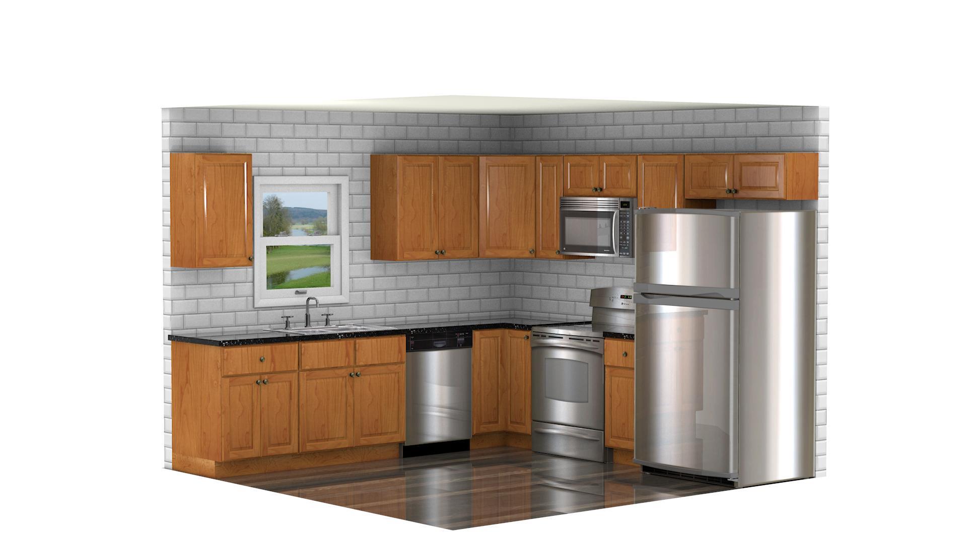 GHI Regal Oak  Waverly Cabinets