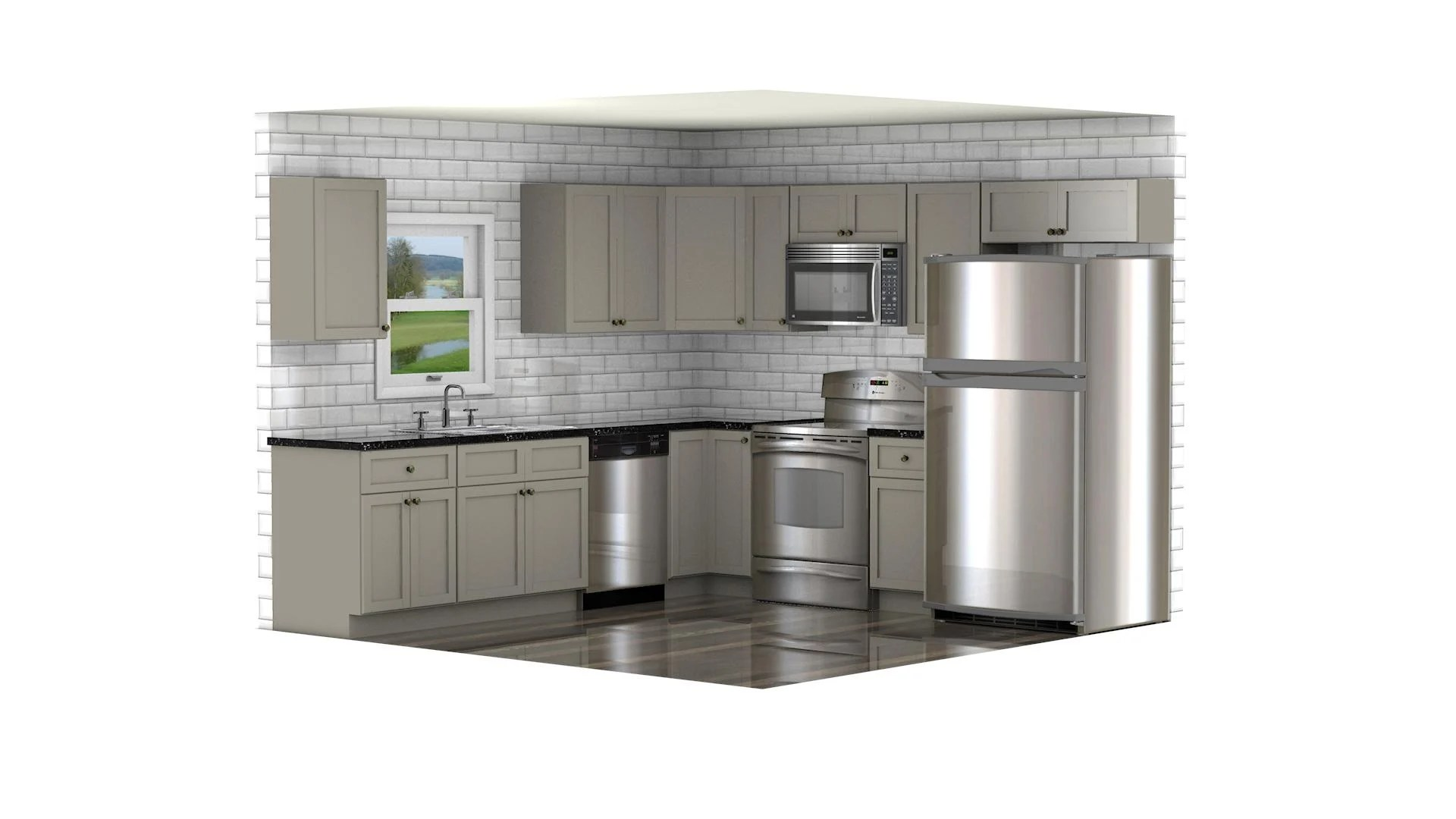 GHI Stone Harbor Gray Kitchen Cabinets  Waverly Cabinets