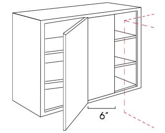 Forevermark Cinnamon Glaze Wall Blind Corner Cabinet 36W X