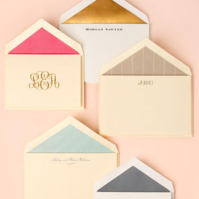 Custom Crane Stationery and invitations