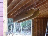 Rope and pulley system for indoor storage of W500 kayak ...