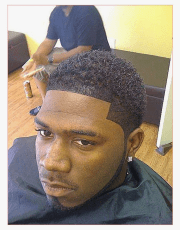 haircuts black men with thinning