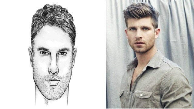 haircut for oblong face male - wavy haircut