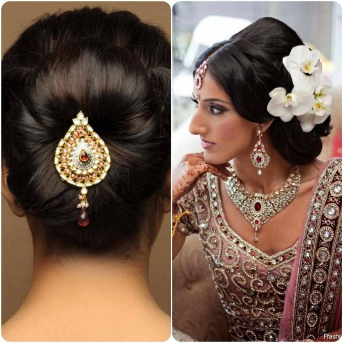 hairstyle for round face indian bride - wavy haircut