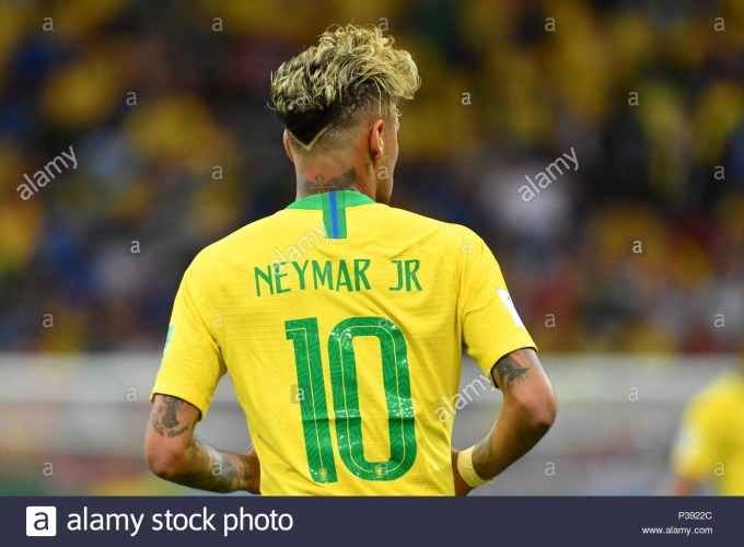 Neymar (Bra), Rear View, Back, Hairstyle, Action, Single Image intended for Neymar Haircut 2018 Back View