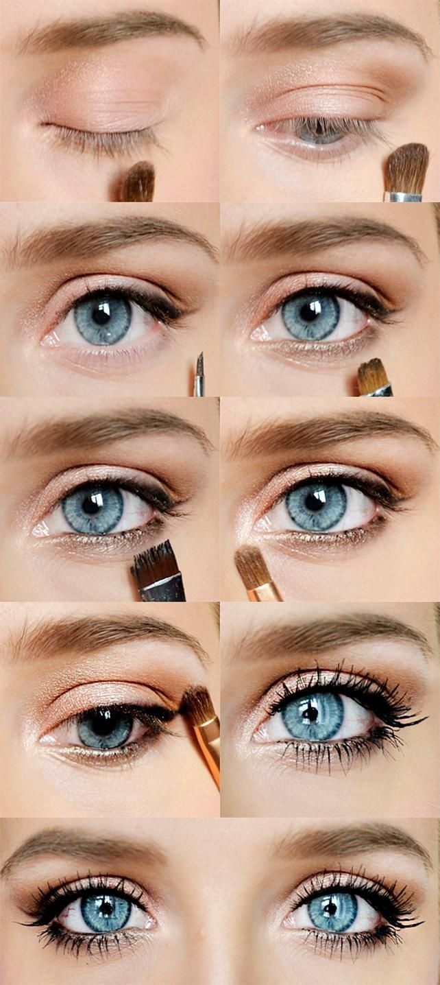 prom makeup tutorial blue eyes - wavy haircut