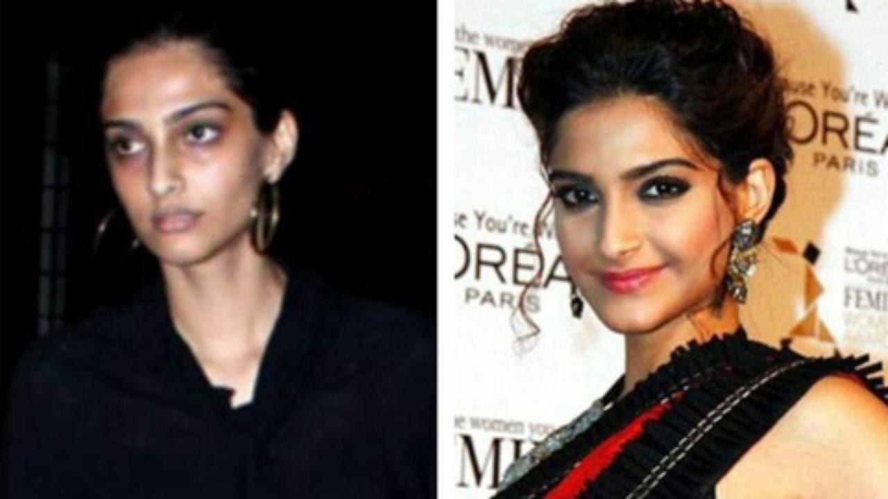 original pics of bollywood actress without makeup - wavy haircut