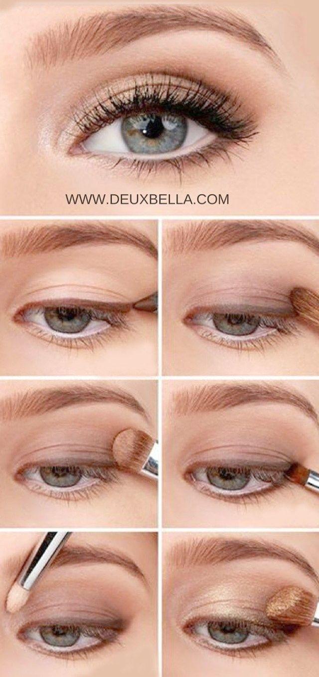 makeup for hazel eyes and gray hair - wavy haircut