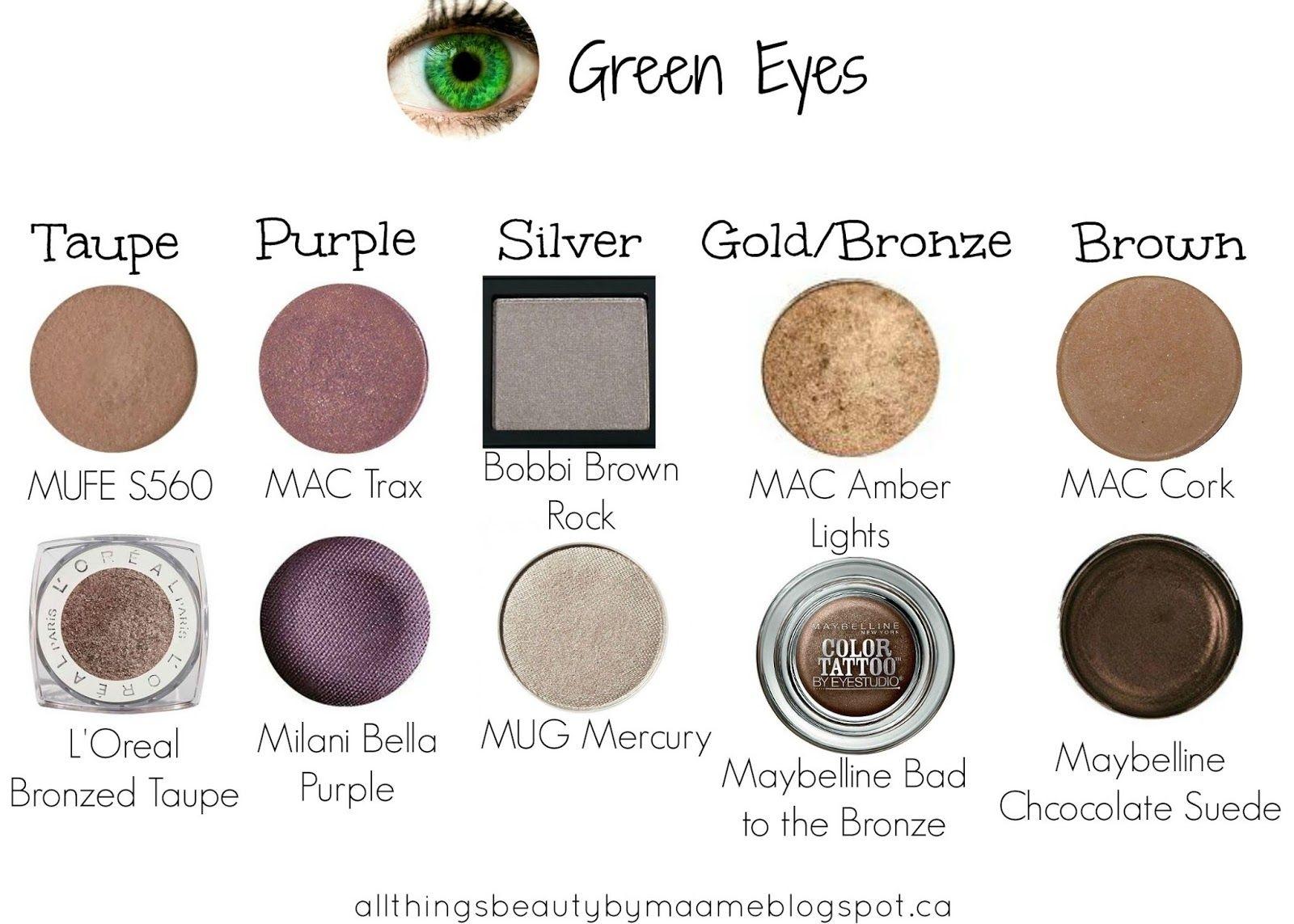 makeup color for blue green eyes