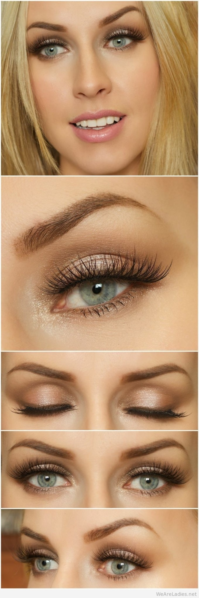 eyeshadow color for blue green eyes and brown hair - wavy