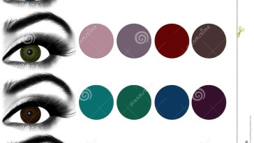 Eyes Makeup.matching Eyeshadow To Eye Color. Stock Photo - Image Of in Best Eyeshadow Colors For Green Eyes
