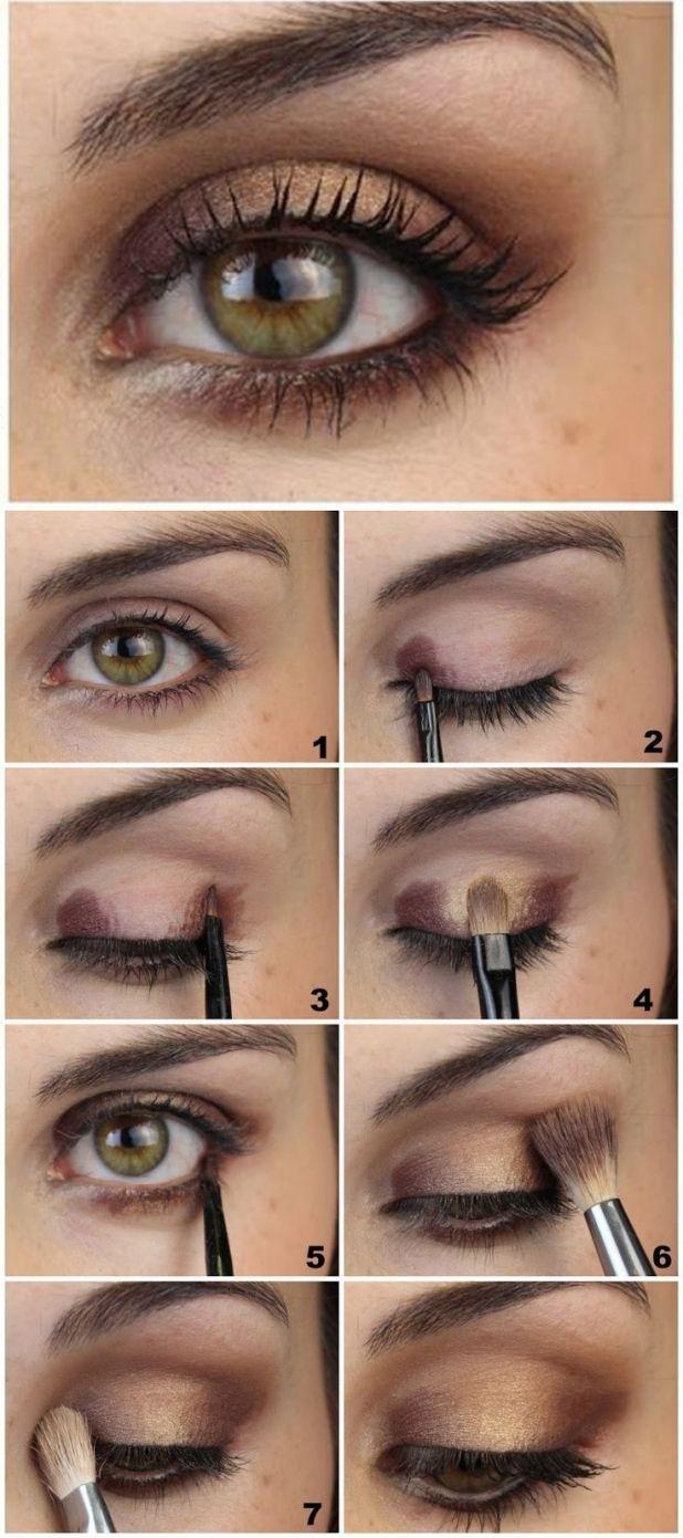 best eyeshadow for hazel eyes and dark brown hair - wavy haircut