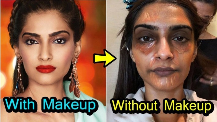 20 Shocking Looks Of Bollywood Actress Without Makeup - Youtube pertaining to Indian Actress Before And After Makeup