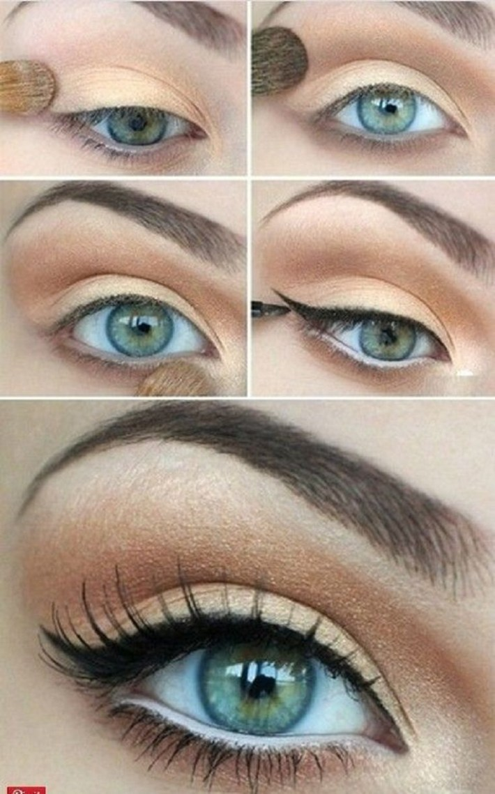 what colour eyeshadow for blue/green eyes and brown hair