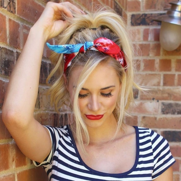 20 Gorgeous Bandana Hairstyles For Cool Girls with Hip Hop Hairstyles Girls