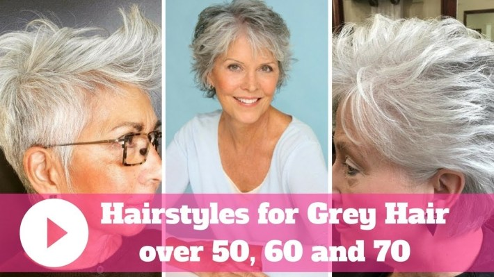 2018 Hairstyles For Grey Hair Over 50, 60 And 70 - Youtube intended for Thin Grey Hair What Is The Best Haircut