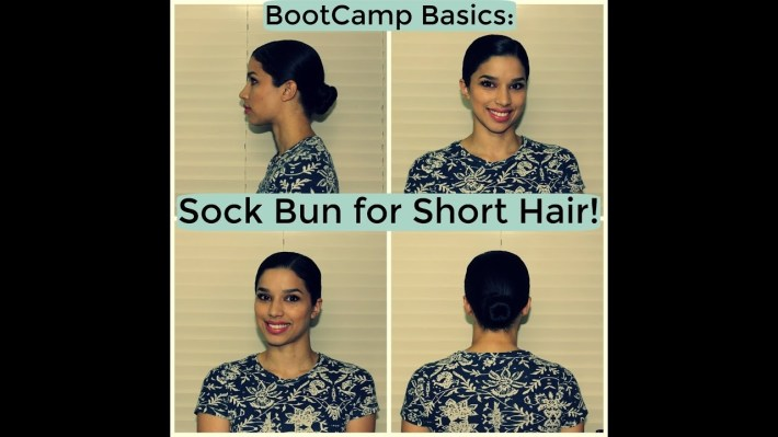 Bootcamp Basics: Sock Bun For Short Hair - Youtube throughout How Do Women With Short Hair In The Military